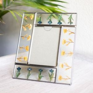 Pressed Flowers Botanical Glass Picture Frame